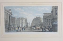 A framed and glazed engraving. 'View of the Architectural Improvements in the Vicinity of the