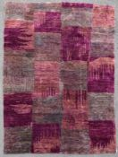 A modern rug with abstract geometric design. L.215 W.152cm