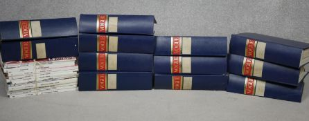 Vogue magazine, twelve bound volumes, the seven years: 1946-51 inclusive and 1985 along with 1986,