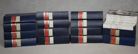 Vogue magazine, fourteen bound volumes containing the eight years: 1970-74, 1982-84 inclusive, along
