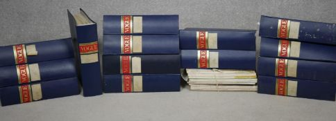 Vogue magazine. Fourteen bound volumes containing the seven years: 1952-54, 1959-62 (inclusive).