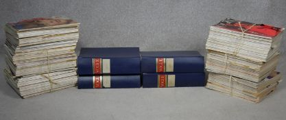Vogue magazine, four bound volumes 1955 and 1956 along with the years 1957 and 1956 and 1964-66