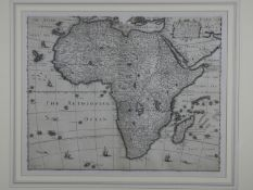 Africa. Speed (John), Africae. A framed and glazed 17th century map of Africae engraved by Abraham