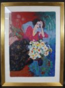 A framed and glazed limited edition print, Veronique, 235/350, indistinctly signed. H.118 W.88cm