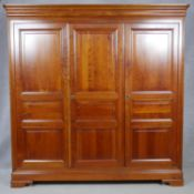 A contemporary Grange Furniture French Provincial style wardrobe fitted with hanging section and