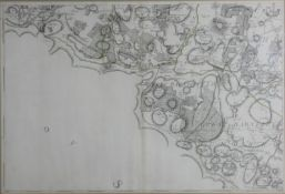 A framed and glazed 18th century sectional map of Kent by Andrews, Drury & Herbert. A plated from 'A
