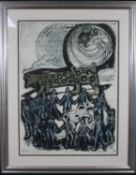 Bruce Onobrakpeya (B.1932), deep etching, numbered 9/20, inscribed and signed and dated Lagos 73.