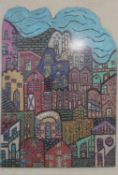 Jose M Bernardo, a framed and glazed oil on wood. Mexico City, signed and inscribed to the