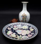 A collection of Chinese ceramics. Inlcuding a miniature Yixing clay teapot with impressed mark to