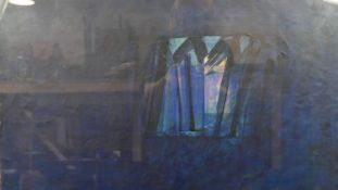 Gerard Hastings, oil on paper, abstract composition, Wotan I: 2001, signed and titled to the