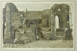 Valerie Thornton (1931-1991) Leiston, artist's proof, signed, titled, and dated in pencil, framed