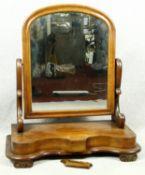 A Victorian mahogany swing framed toilet mirror. H.71 W.64 D.28cm