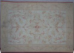A contemporary Laura Ashley Aubusson style rug. L.239 W.164cm