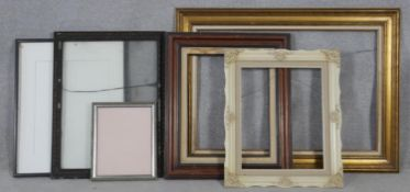A miscellaneous collection of six picture frames. H.82 W.113cm (Largest)