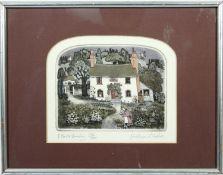 Graham Clarke (b.1941), a signed limited edition coloured etching, 199/250, Flora Bundy, framed