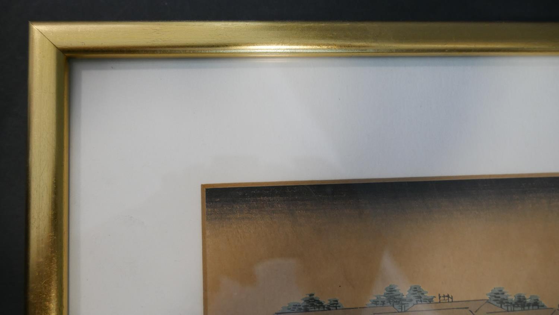 Katsukawa Shunzan - 1782-1798. A framed and glazed 18th century Japanese woodblock print, the left - Image 4 of 6