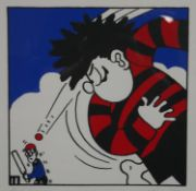 John Patrick Reynolds, a signed limited edition print 1/10, featuring Dennis the Menace. H.58 W.45.
