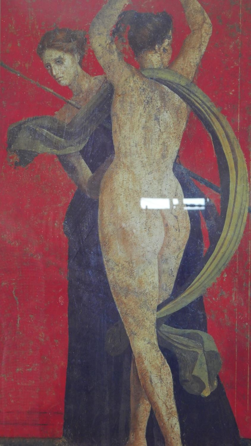 Two framed and glazed prints, one of a detail from the Villa of Mysteries at Pompeii and Jellys Last - Image 5 of 8