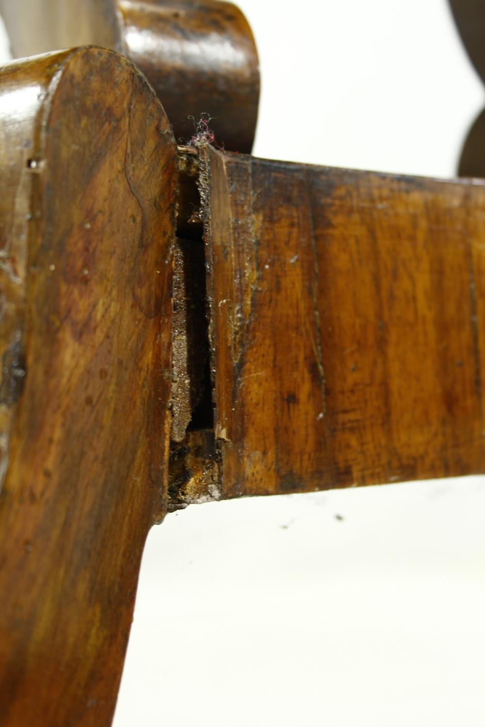 A Regency rosewood card table with foldover baize lined top on twin lyre shaped supports resting - Image 9 of 10