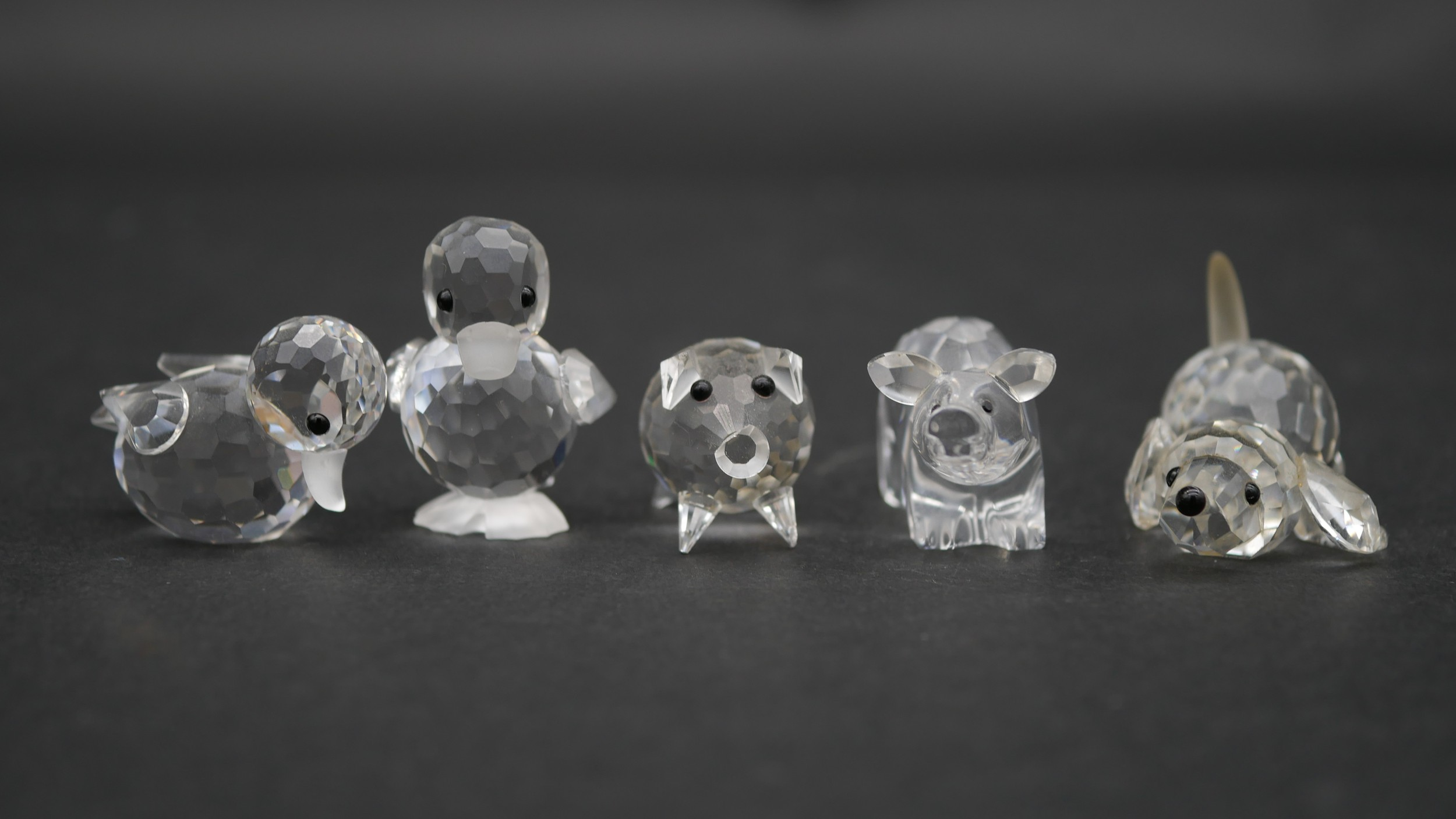 A collection of seventeen Swarovski cut crystal miniature animals to include a roaring lion, - Image 5 of 10