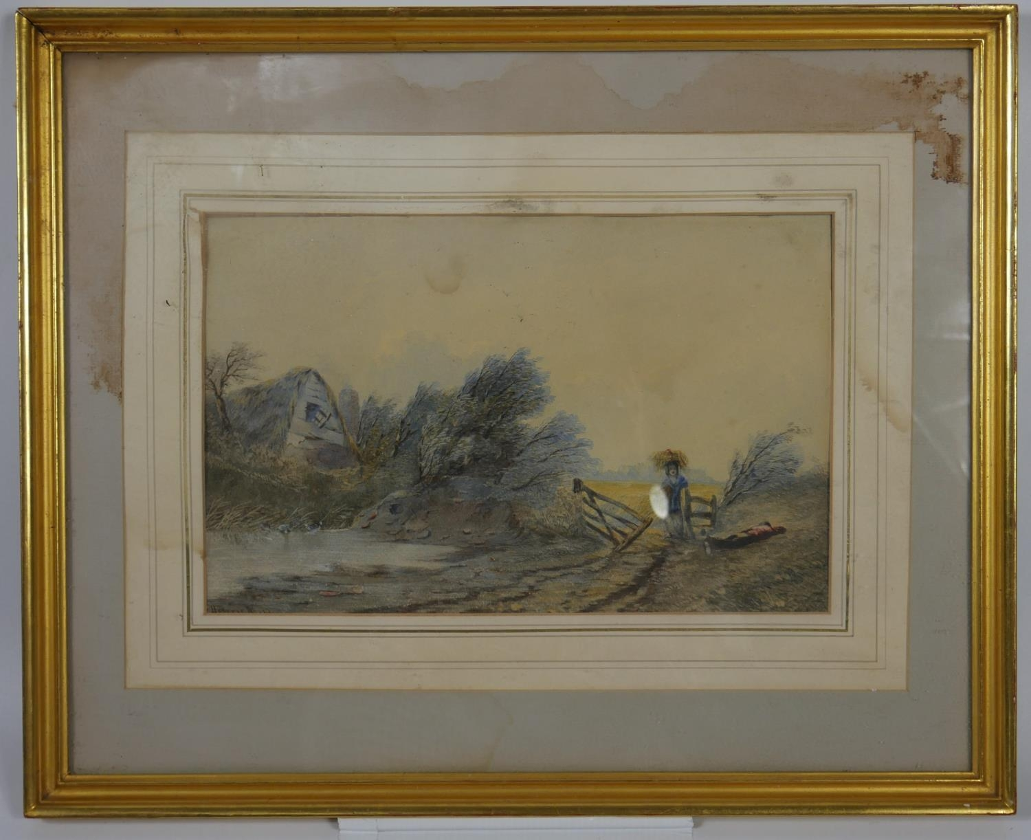 Henry Maplestone (1819-1884). a framed and glazed watercolour, The Neglected Farm, signed with - Image 2 of 6