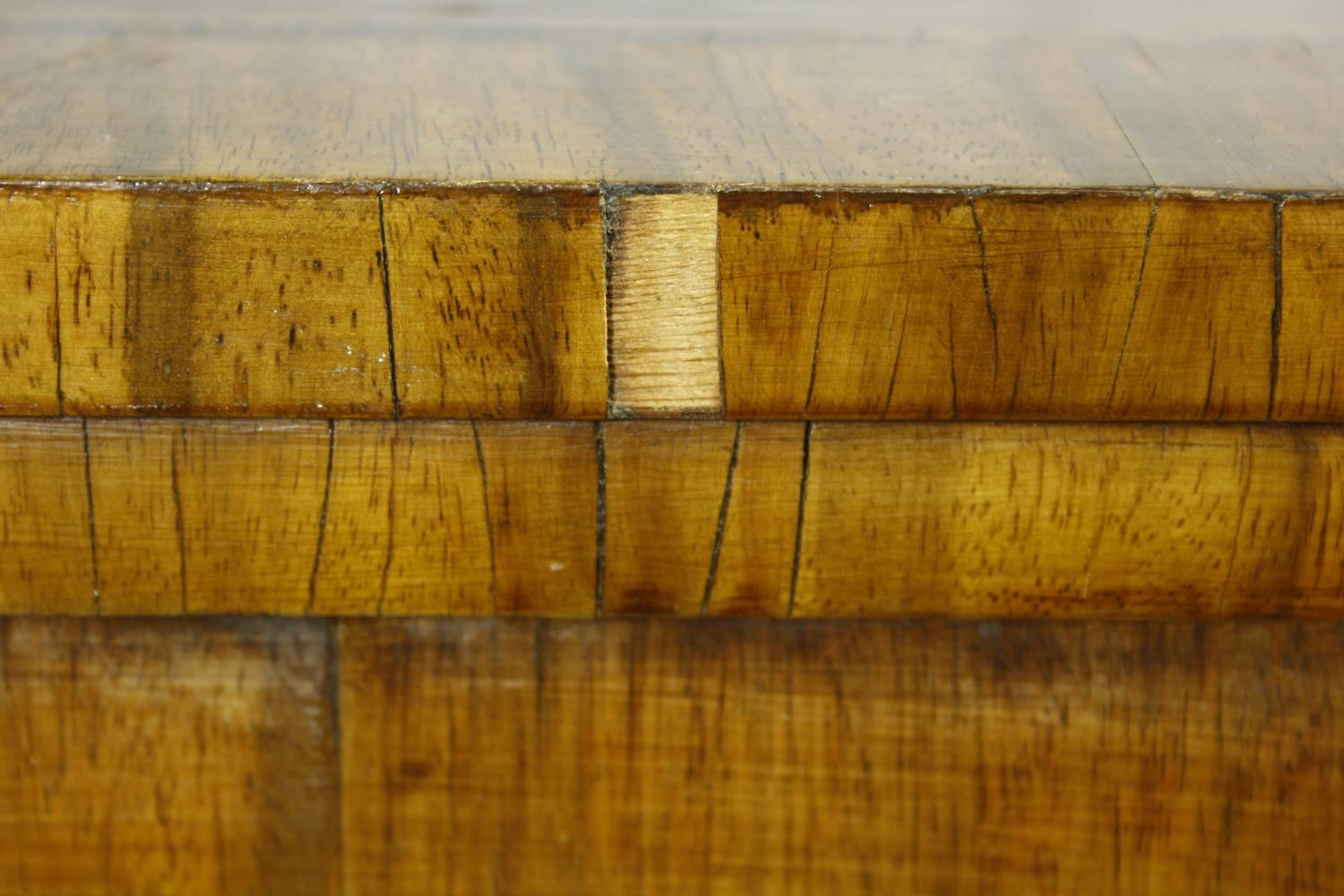 A Regency rosewood card table with foldover baize lined top on twin lyre shaped supports resting - Image 6 of 10