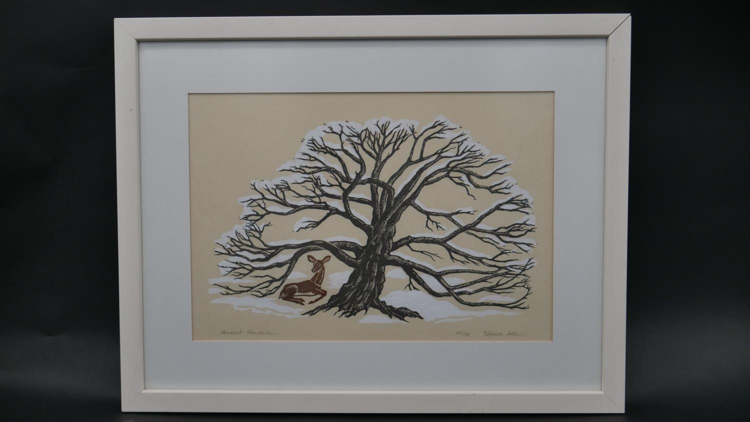 Elfriede Martha Abbe (1919-2012), a signed limited edition woodblock print 29/55, Ancient - Image 2 of 6