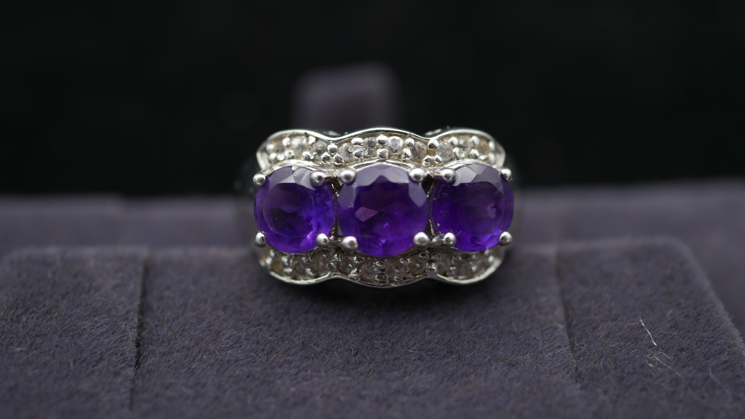 Ten silver gemstone set rings with certificates. To include a kyanite full eternity ring, a - Image 6 of 15