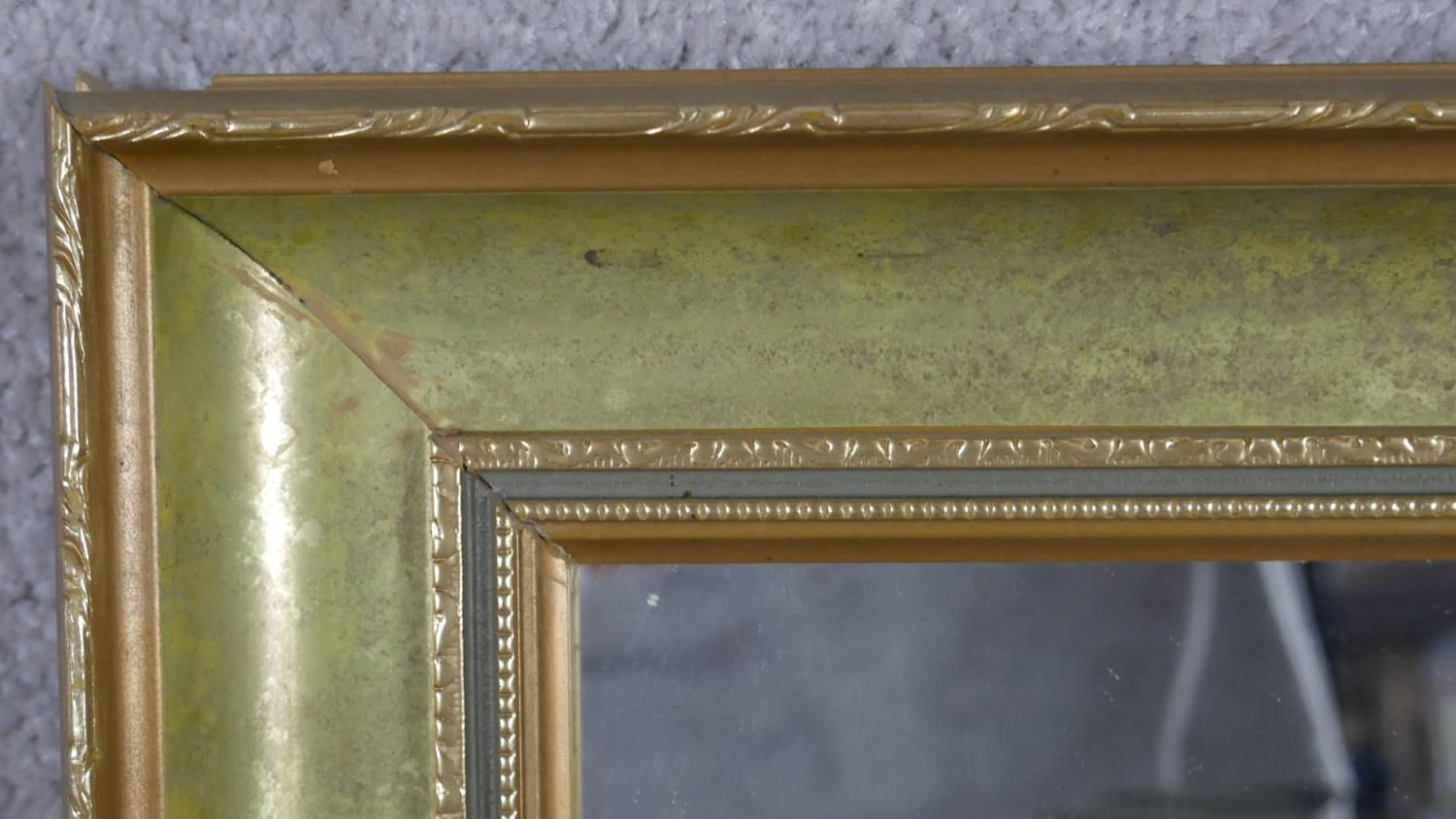 A miscellaneous collection of three gilt wall mirrors. H.83 W.68cm (Largest) - Image 3 of 10