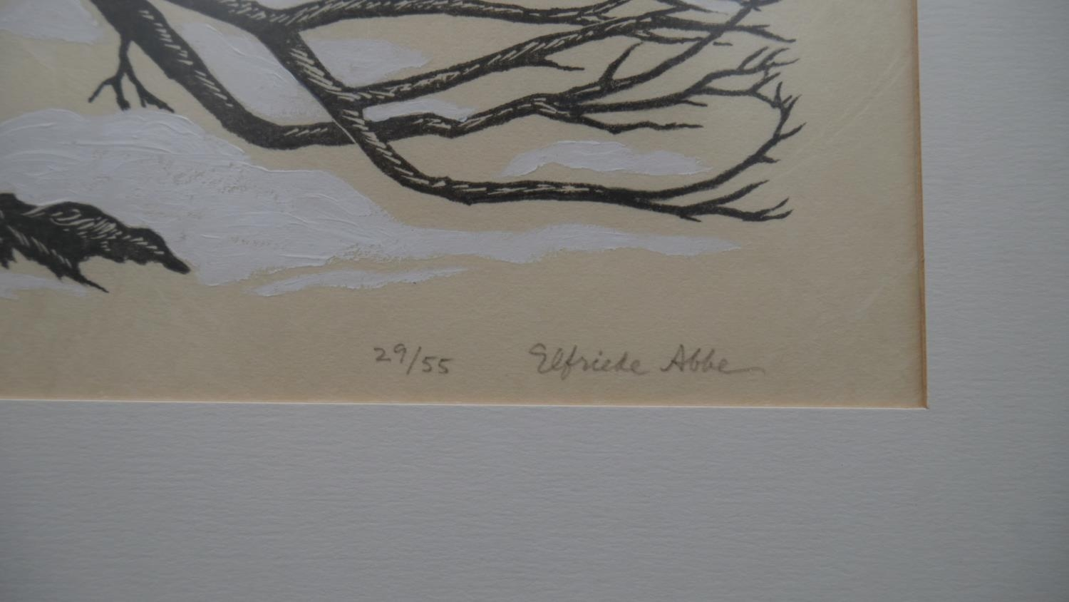 Elfriede Martha Abbe (1919-2012), a signed limited edition woodblock print 29/55, Ancient - Image 3 of 6