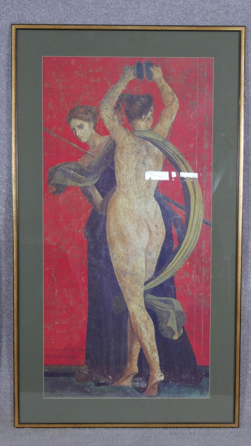 Two framed and glazed prints, one of a detail from the Villa of Mysteries at Pompeii and Jellys Last - Image 6 of 8