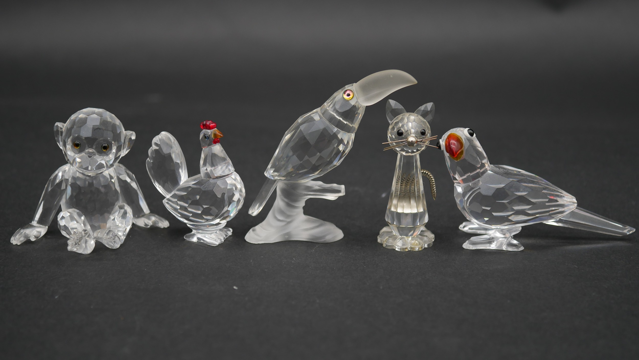 A collection of seventeen Swarovski cut crystal miniature animals to include a roaring lion, - Image 4 of 10