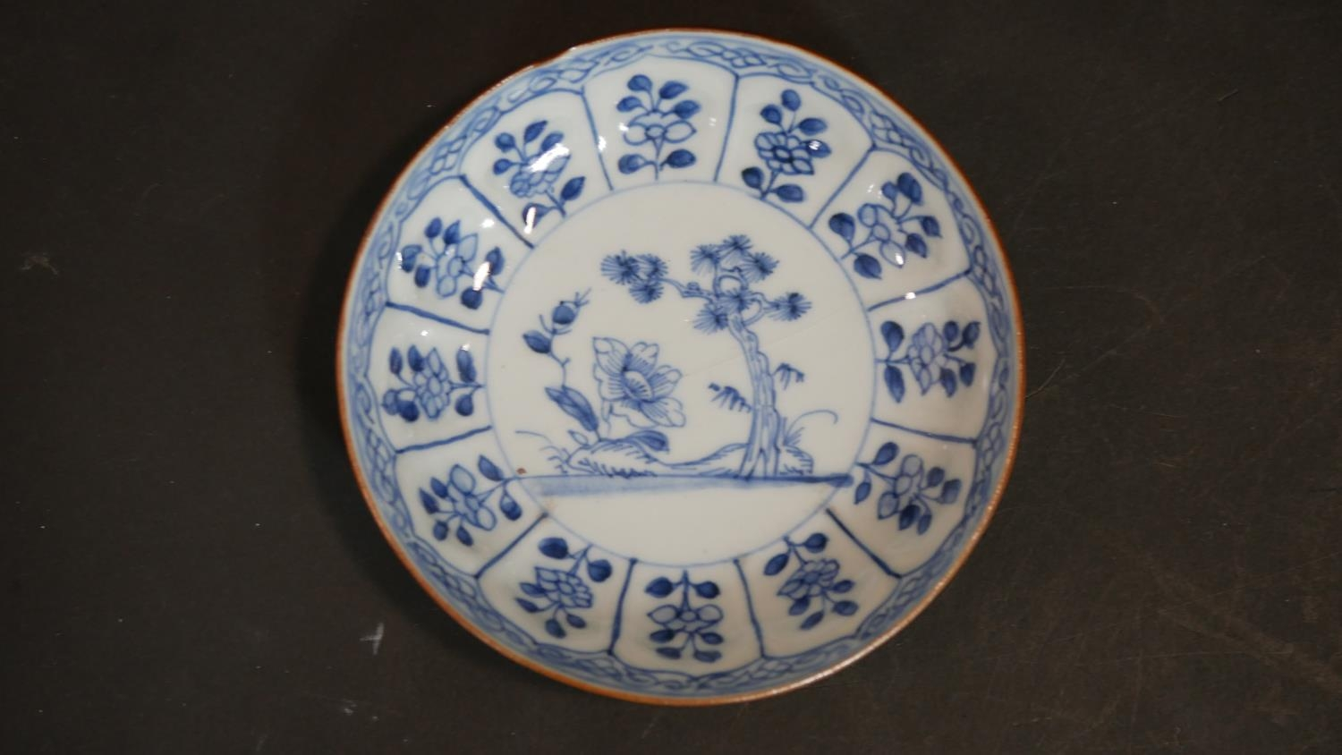 A Chinese embroidered scroll, three items of hand painted blue and white ceramics and a cased carved - Image 9 of 15