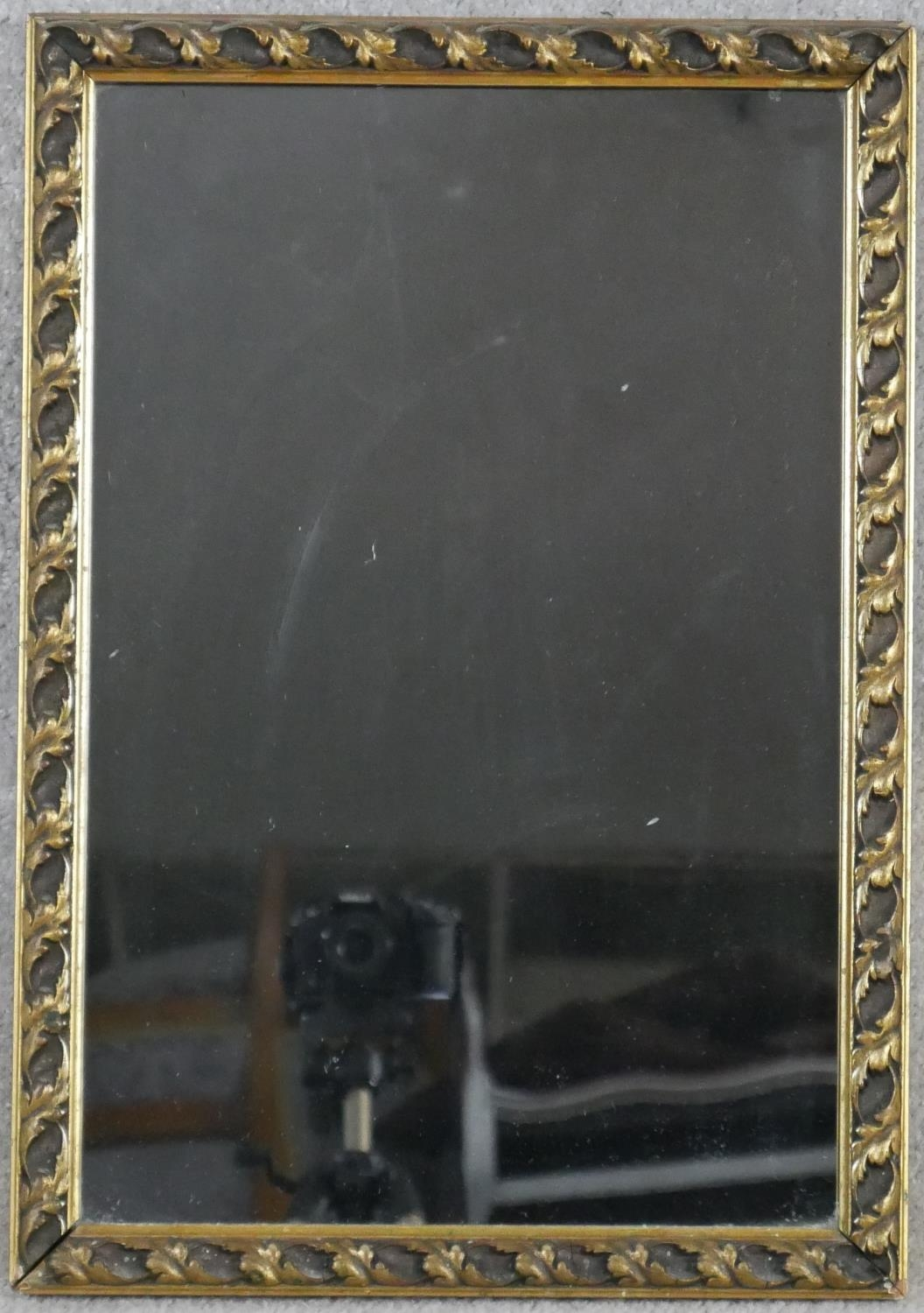 A miscellaneous collection of three gilt wall mirrors. H.83 W.68cm (Largest) - Image 8 of 10