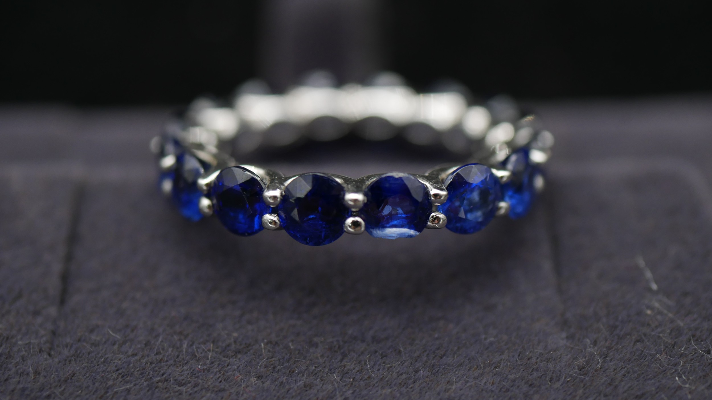 Ten silver gemstone set rings with certificates. To include a kyanite full eternity ring, a - Image 7 of 15