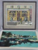 An unmounted signed limited edition serigraph by American artist Jon Carsman and a framed and glazed