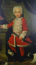After Pierre Subleyras, a large contemporary oil on canvas, portrait of a young boy in Hungarian
