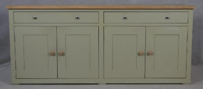 A contemporary Shaker style sideboard by Neptune Furniture. H.79 W.183 D.49cm