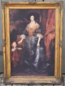 After van Dyck, reproduction in ornate gilt frame. H.110 W.79cm