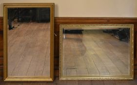 Two gilt framed wall mirrors. H.100 W.65cm (tallest)