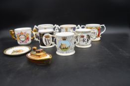 A limited edition Royal Crown Derby tug boat to commemorate the Queen's diamond jubilee, a Royal