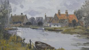 Campbell A. Mellon (1876-1955), an oil on board, Norfolk river scene inscribed; Grey Day at St
