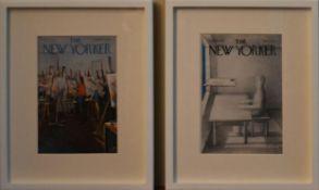 A pair of framed original New Yorker magazine covers. H.47 W.39cm (2)