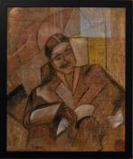 Jean du Marbore (1896-1933), A framed and glazed oil on canvas, male portait, inscribed and with