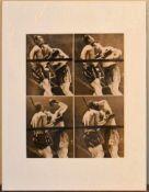 Harold Edgerton, vintage photograph, Joe Louis and Arturo Godoy. H.36 W.29cm