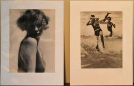 Martin Munkasci, two original heliogravure prints. H.40 W.30cm (2)