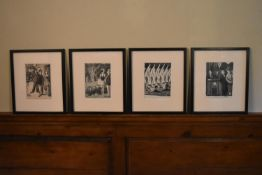 For the New Yorker, Peter Arno (1904-1968), four framed and glazed prints of cartoons. H.45 W.