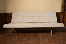Peter Hvidt & Orla Molgaard-Nielsen for France and Daverkosen, a mid century teak framed sofa, newly