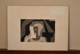 A watercolour, hommage a Juan Gris, signed and dated. H.56 W.77cm