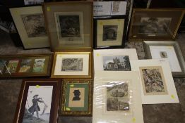 A QUANTITY OF PICTURES PRINTS AND FRAMES